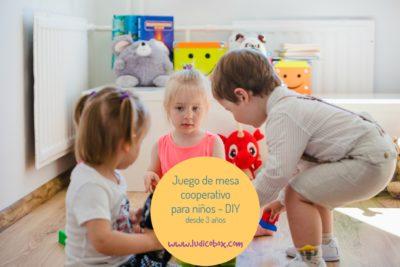 Juego de mesa cooperativo para niños DIY