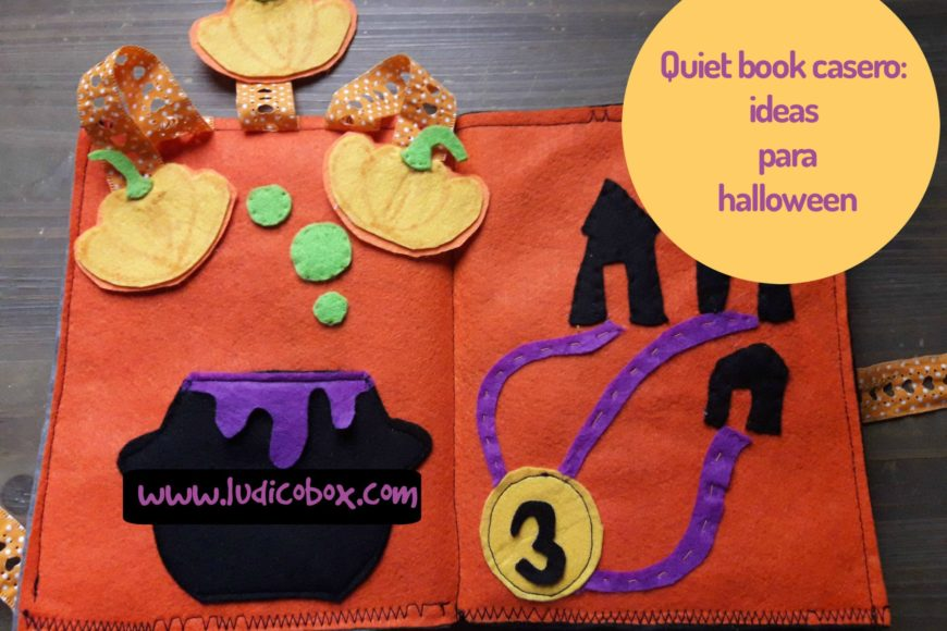 Quiet book casero:ideas para halloween