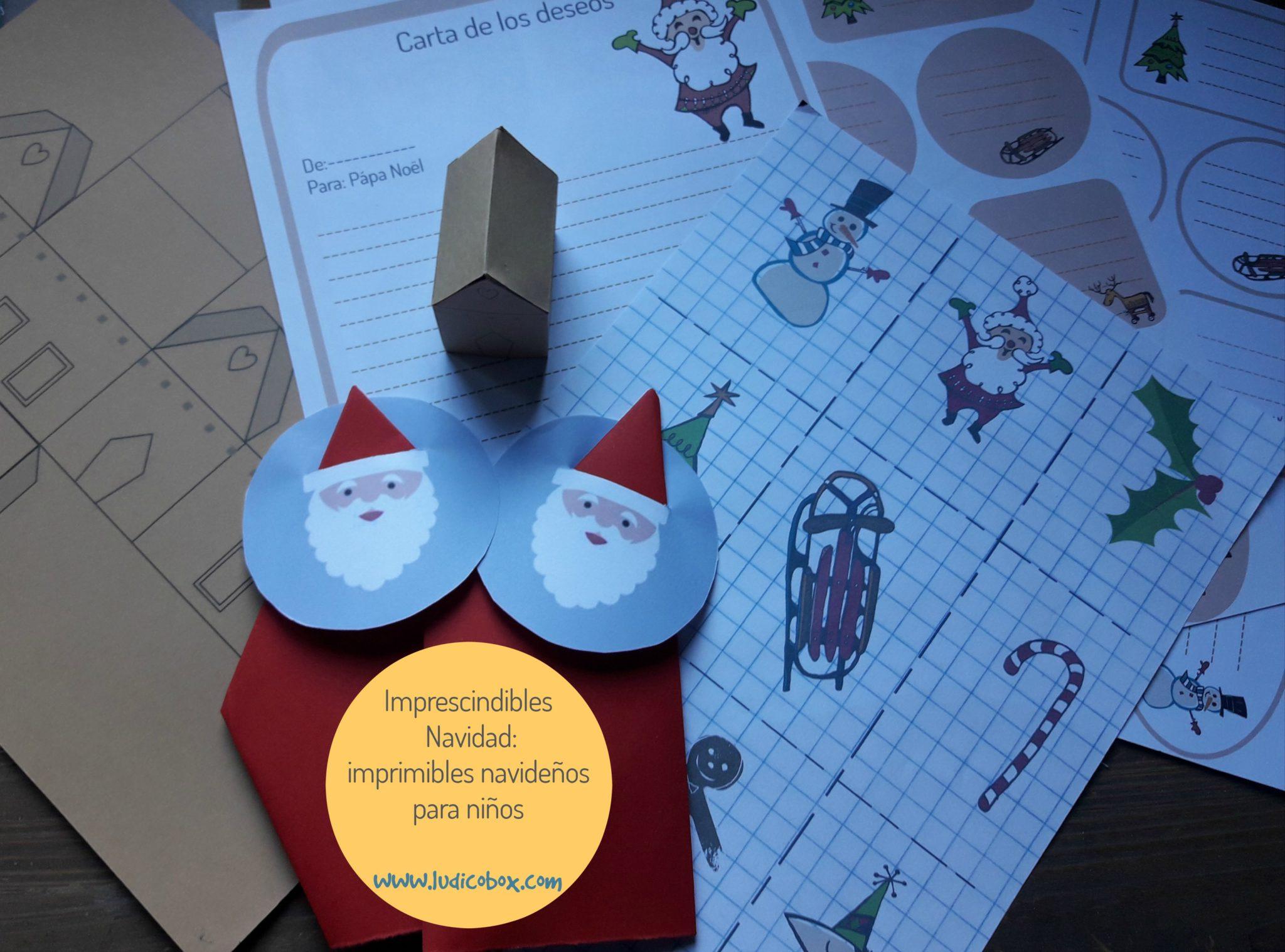 Imprescindibles Navidad: imprimibles navideños para niños | Ludicobox