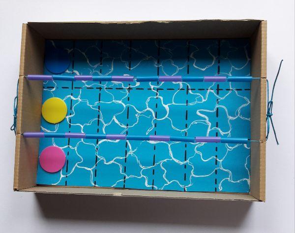 Manualidad con tema piscina, una idea refrescante