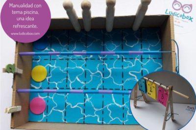 Manualidad con tema piscina,una idea refrescante.