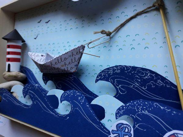 barco del diorama marinero