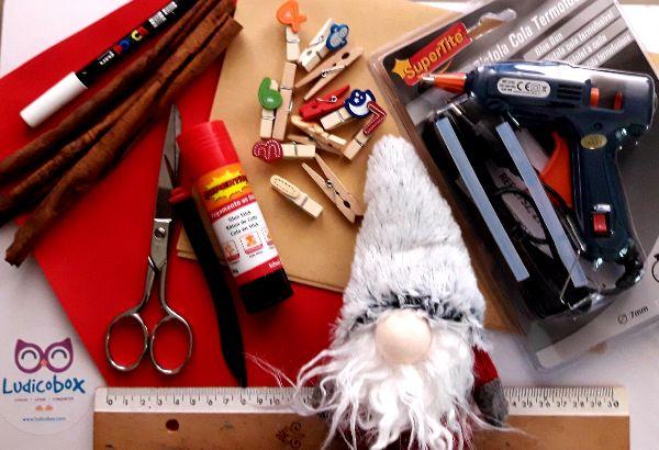 materiales para realizar un calendario de adviento