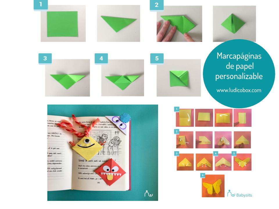 Marcapáginas de papel personalizable
