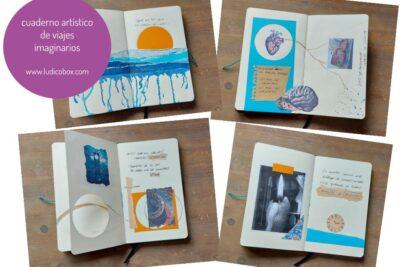 Cuaderno artístico  de viajes imaginarios.
