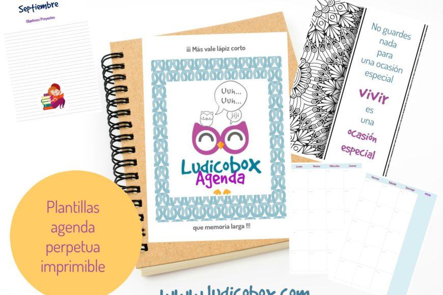 Plantillas De Agenda Perpetua Imprimible Ludicobox