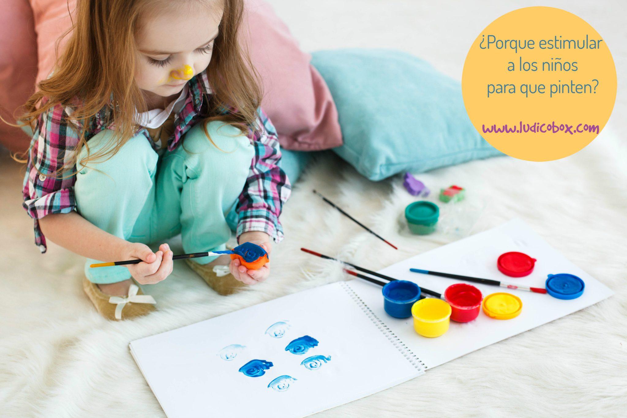 Porque estimular a los niños para que pinten ? | Ludicobox