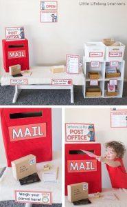 juego didáctico hecho con cajas de cartón