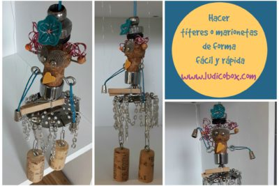 Hacer títeres o marionetas de forma fácil y rápida