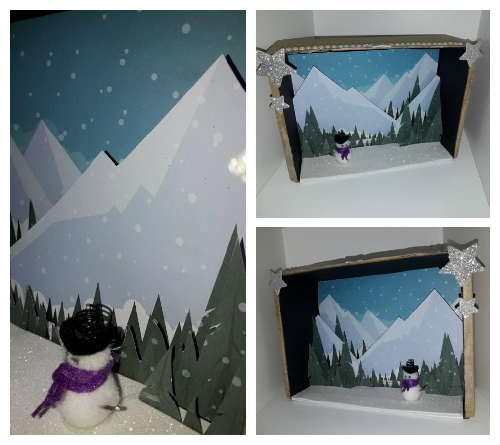 ¿como hacer un diorama de invierno?