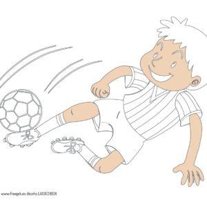 Coloreables fútbol para el mundial 2018