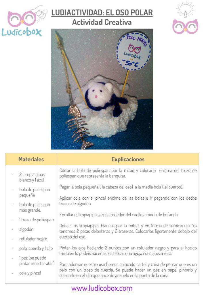 -Ludiactividad creativa crear un oso polar