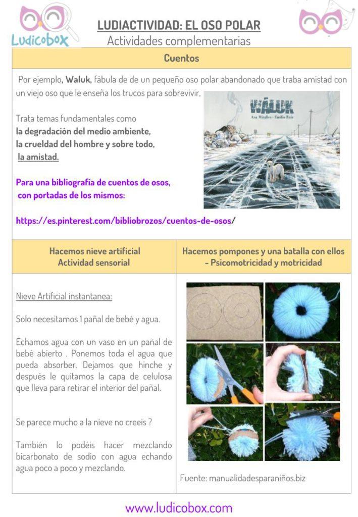 Ludiactividad Oso Polar- actividades complementarias