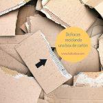 Disfraces reciclando una box de cartón