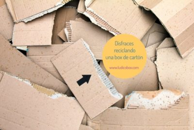 Disfraces reciclando una box de cartón