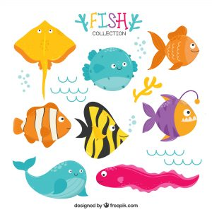 """Manualidades con peces para niños, para """"poisson d´avril"""""""