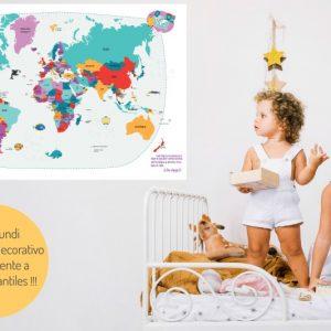mapamundi infantil para decorar y aprender